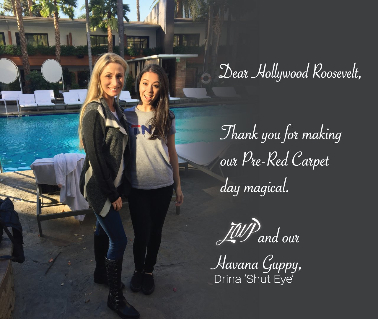 #HWP is back, ready for @shuteyeonhulu Dec.7 | Thank you @hwood_roosevelt for offering @HavanaGuppy the #star treatment we rely upon. https://t.co/oy3Q4UGVrv