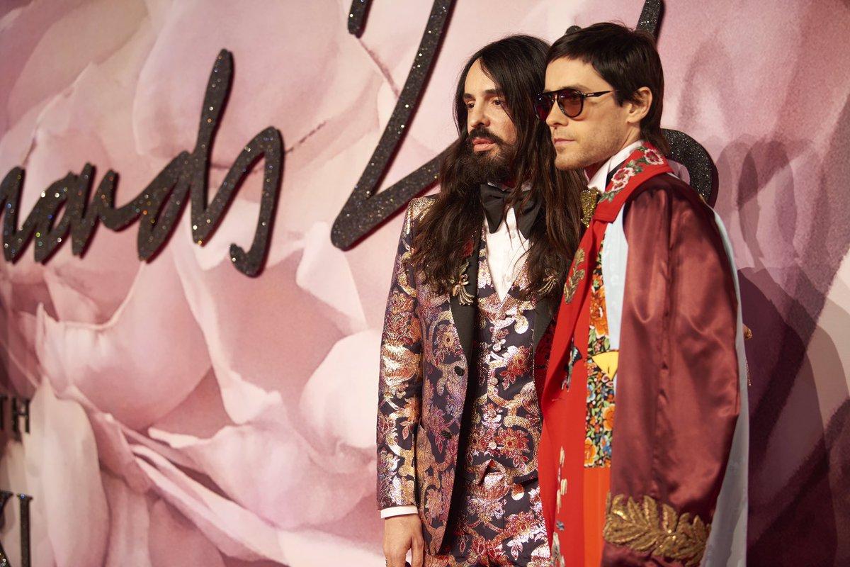 Alessandro Michele @gucci & @JaredLeto on the #FashionAwards 2016 red carpet