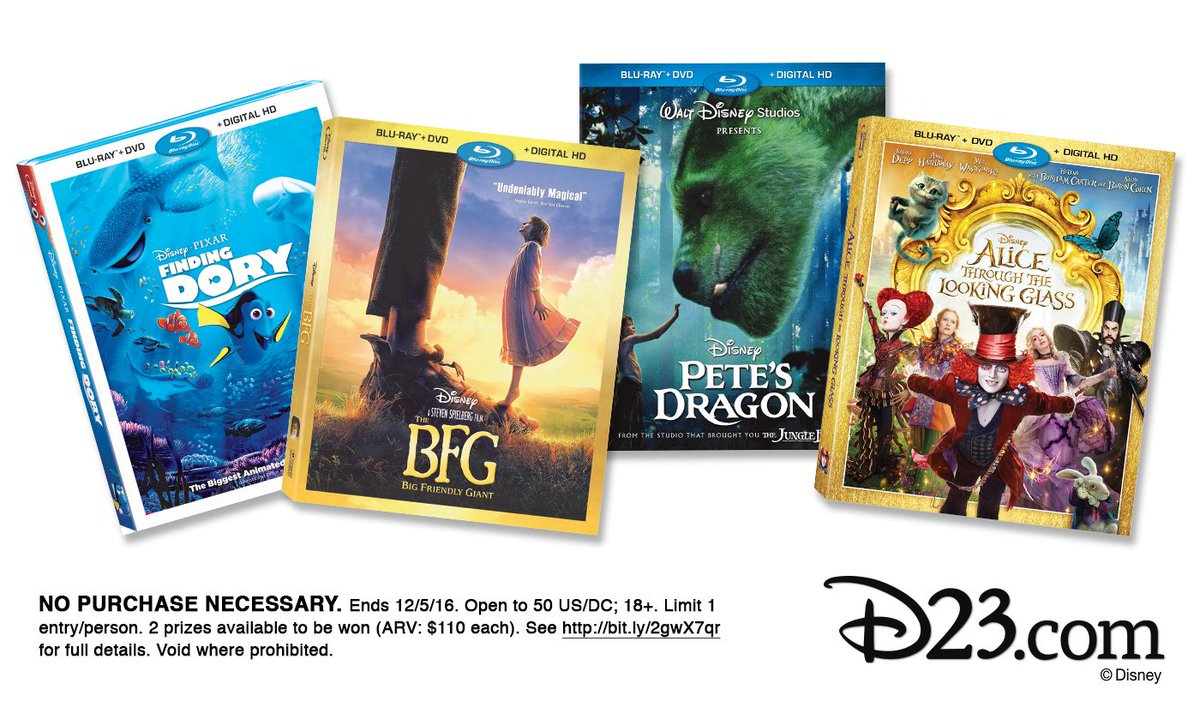Get ready for movie night! Retweet for a chance to win a Disney blu-ray bundle: https://t.co/A4zkvtx5Fk #D23Days https://t.co/1gIUETD2jX
