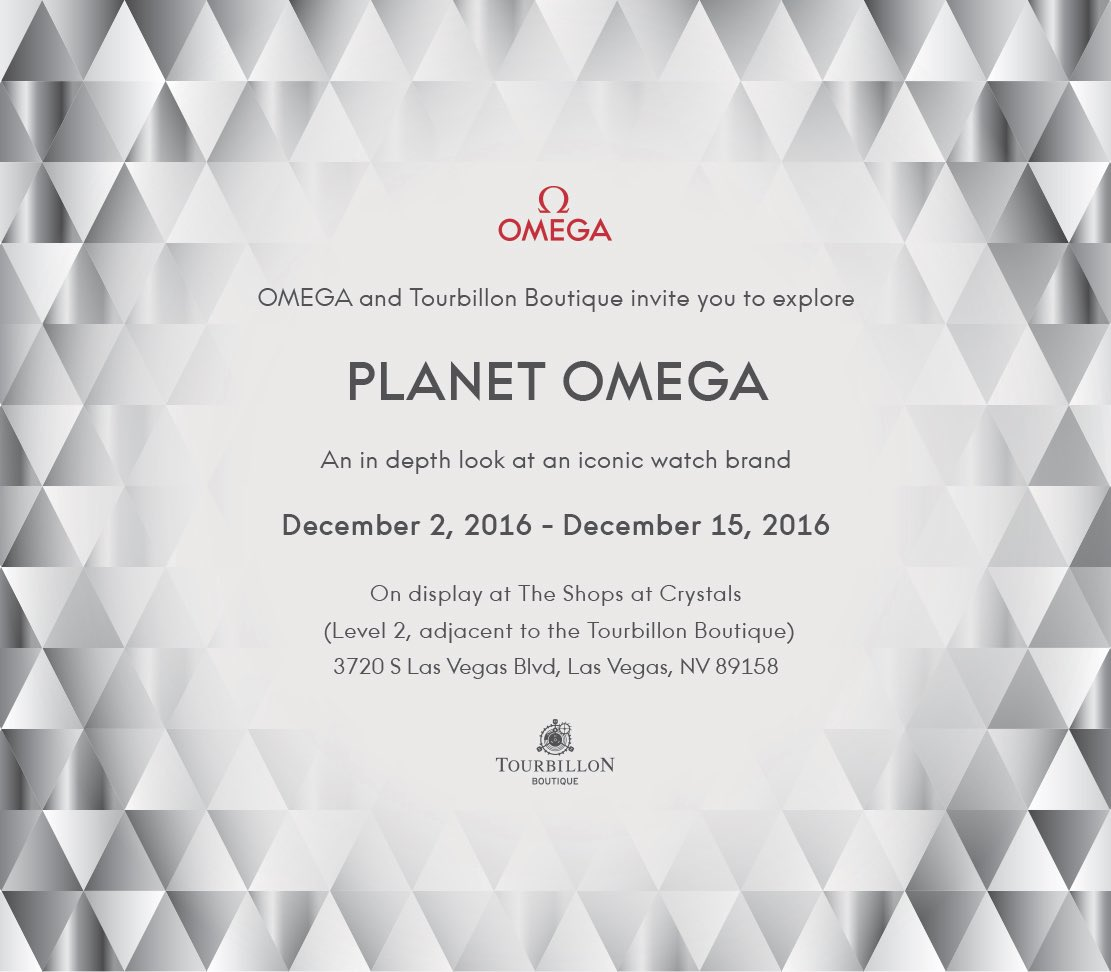 Come experience Planet Omega on display for a limited time at The Shops at Crystals https://t.co/w4rrvnt8UM