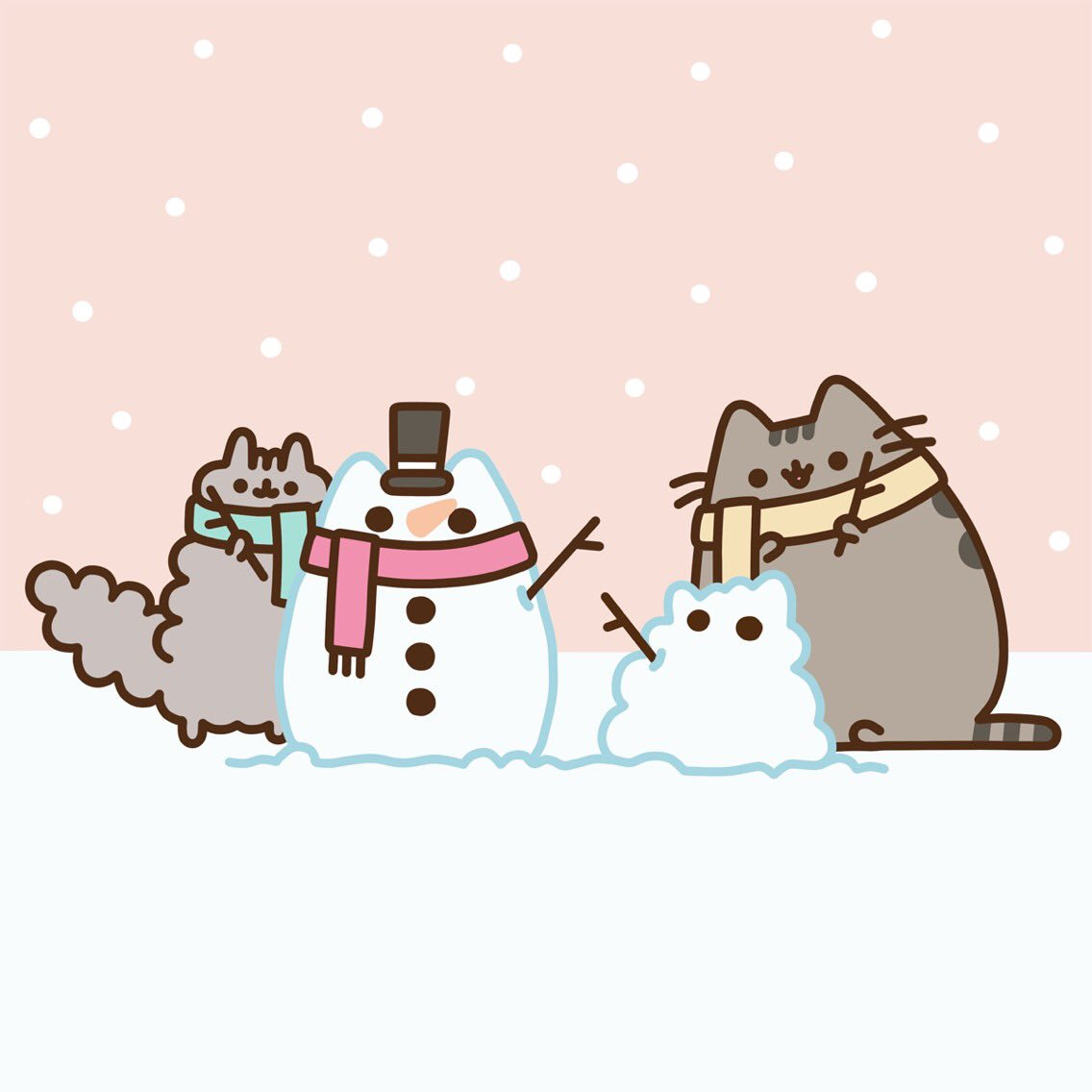 pusheen the cat   pusheen  twitter snowball clipart png snowball clipart free