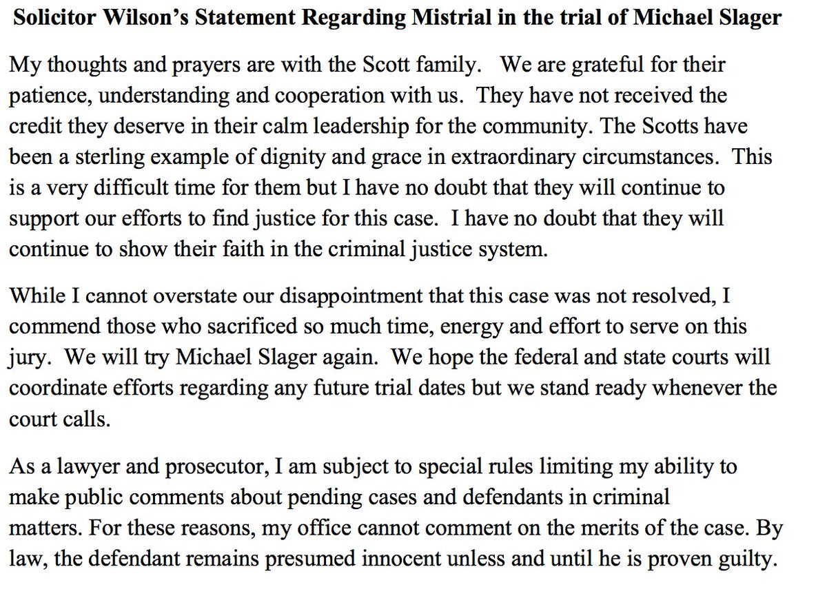 JUST IN: South Carolina prosecutor confirms she will retry Michael Slager after mistrial today https://t.co/88SgL8xlal #walterscott