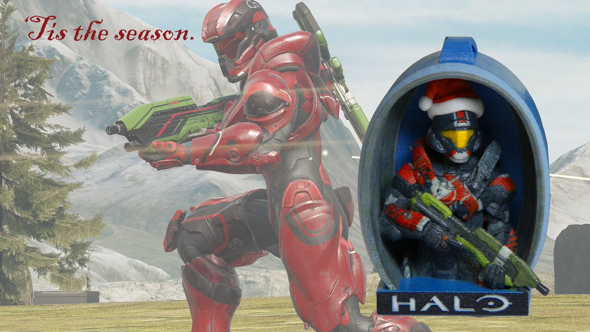 Halo Christmas Ornament.Halo Gear On Twitter Tis The Season For Your Spartan To