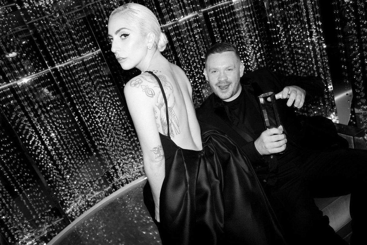 Backstage with @ladygaga & @Craig_Green_UK - winner of the British Menswear Designer Award #FashionAwards #Swarovski