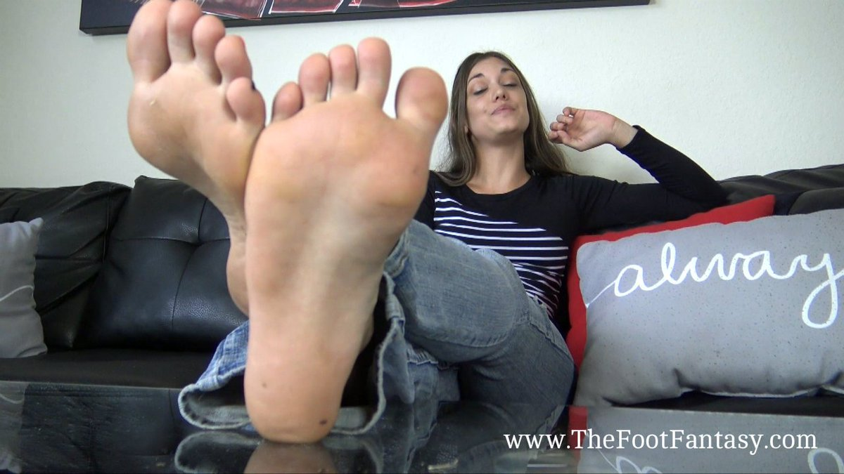 Foot fetish soles tease