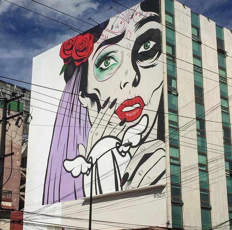 Street Art by D*Face   📍 Mexico City 🇲🇽  #art #mural #graffiti #streetart