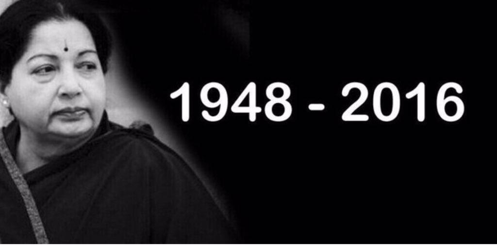 Thumbnail for RIP Jayalalithaa: Twitter Mourns Amma's Death