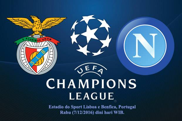 Benfica-NAPOLI Rojadirecta Streaming Gratis: info calcio live tv Champions League Diretta Canale 5