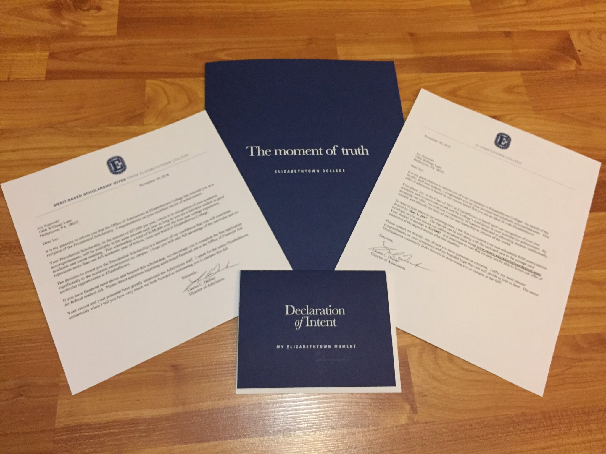 so happy to announce my acceptance into Elizabethtown College☺️💙 https://t.co/jtS7iK2nxT