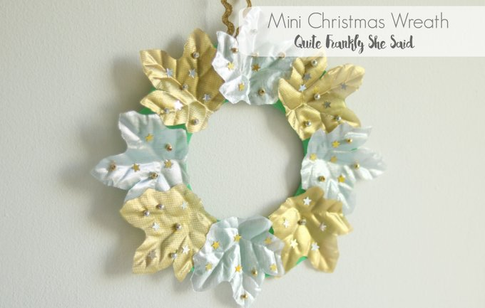 Craft Idea: Mini Christmas Wreath