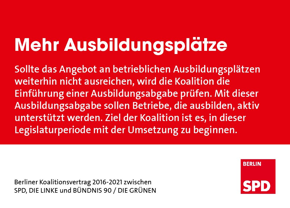 Spd Berlin On Twitter Auch Hier Haben Wir Forderungen Im Ko
