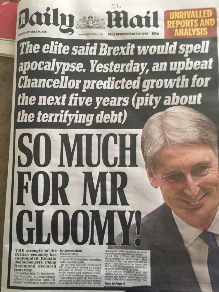 This must be one of the most delusional of front pages. It's like praising the Titanic for a good launch party.  https://t.co/j8zNR0ZB8V