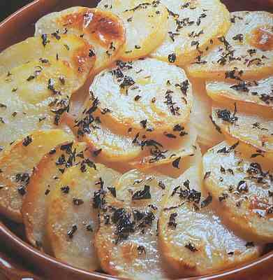Marjoram potatoes and onions,recipe
