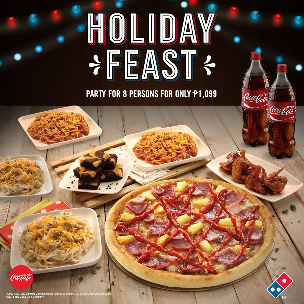 Is Dominos Open On Christmas.Domino S Pizza Ph On Twitter Ho Ho Ho Holiday Feast