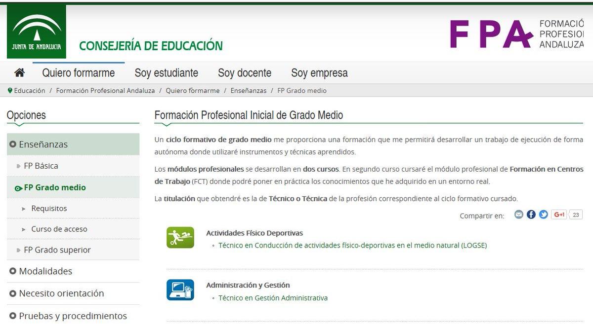 Fp Andaluza On Twitter Conoces Los Ciclos Formativos De