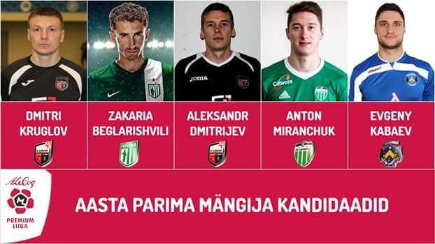 Миранчук претендует на титул игрока года в Эстонии