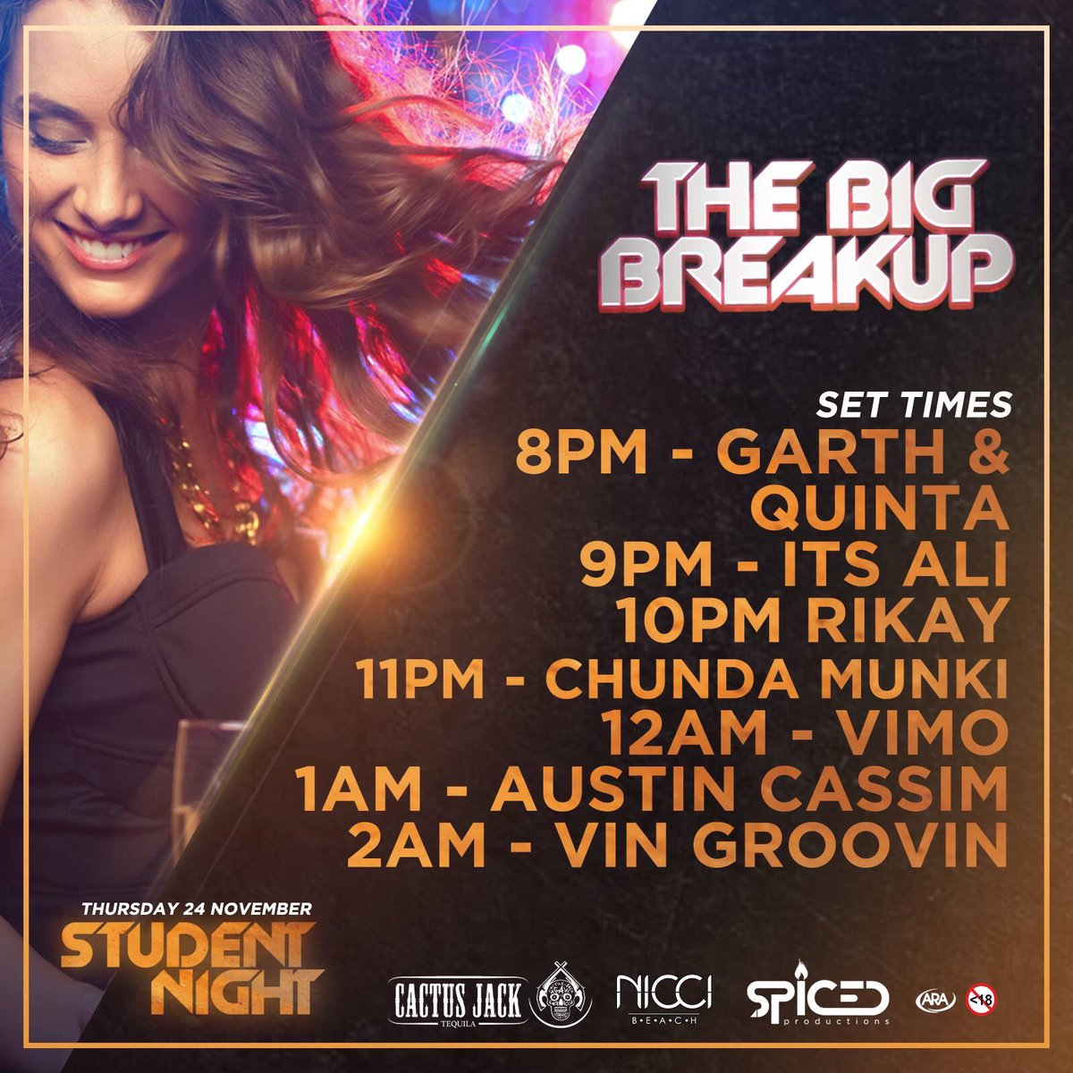 THE BIGGEST BADDEST BREAKUP TONIGHT AT @niccibeach ! ;)  Book a table & receive free Burning Beach tickets ;) danny@spicedproductions.co.za https://t.co/SjGqvd1iSk