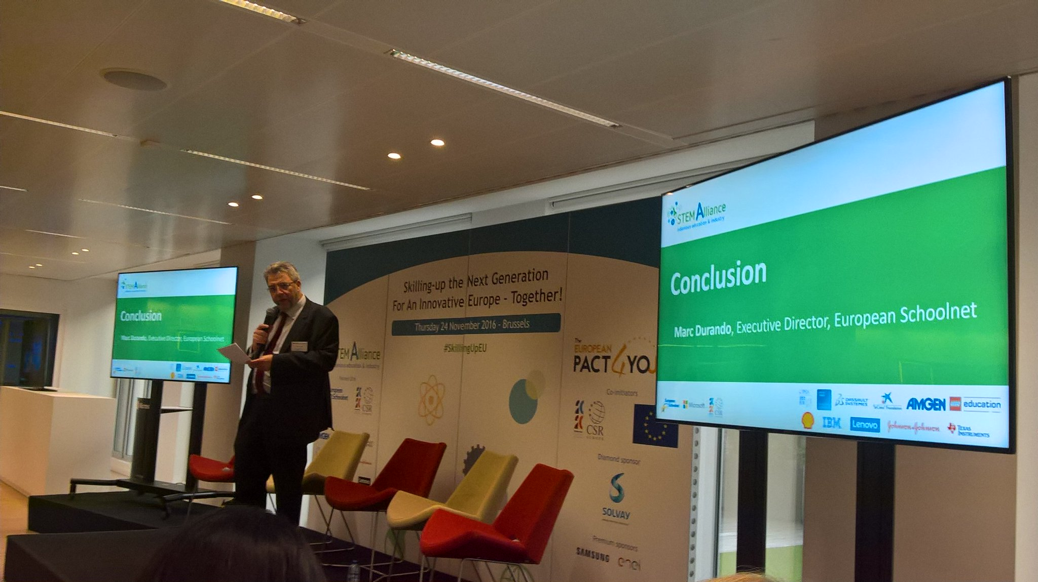 We are on right directions- conclusion by Marc Durando @scientix_eu @stemalliance_eu #SkillingUpEu #AllSTEMScientix https://t.co/ys3VSpNT8D