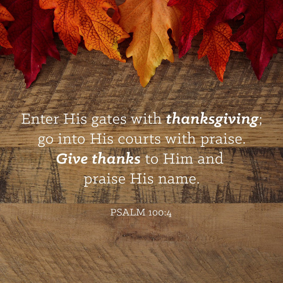 Enter his gates with thanksgiving and his courts with praise; give thanks to him and… https://t.co/WtEOKKWknF https://t.co/YC2gHOQHMI