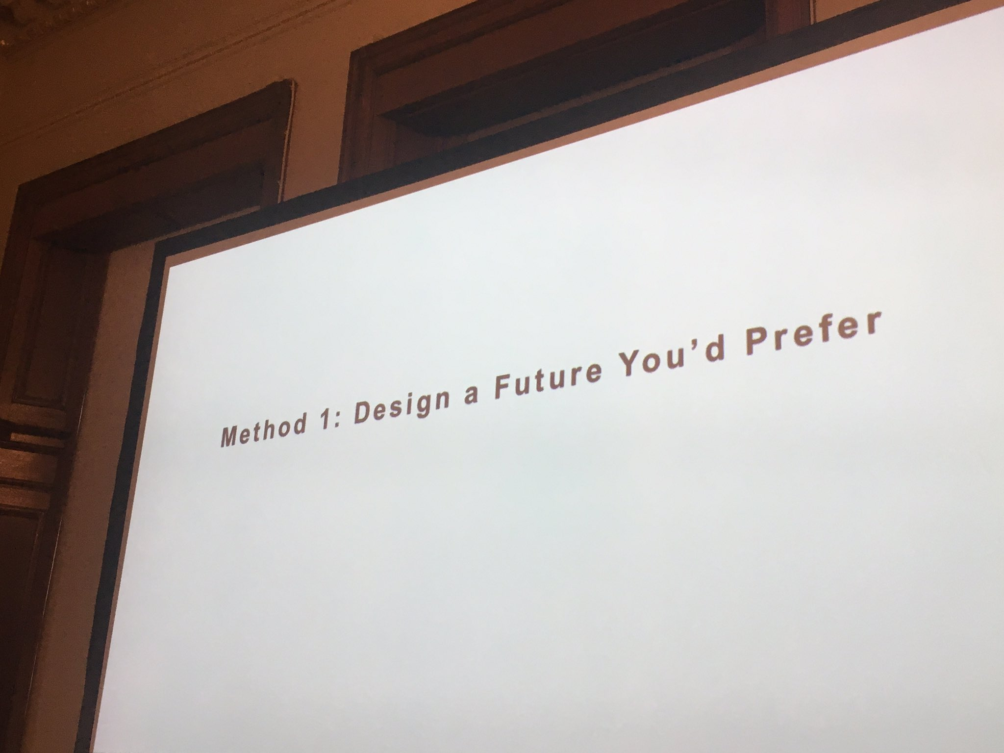 I will go with 'Method 1: Design a Future You'd Prefer' - inspiring paper by Monica Buchan-Ng #resonate #CircTran2016 https://t.co/nvGtDF5i95