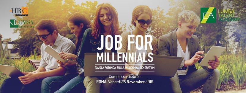 -1 al #CareerDay Job for Millennials! Ti aspettiamo domani con @HRC_Academy nella sede Giubileo di @UniLUMSA! #j4m2016 https://t.co/IUZEcWElpc