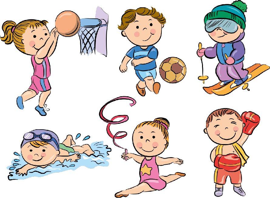 Картинки для детей все о спорте