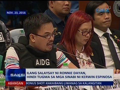 Ilang: VIDEO: Ilang salaysay ni Ronnie Dayan, hindi tugma sa mga
