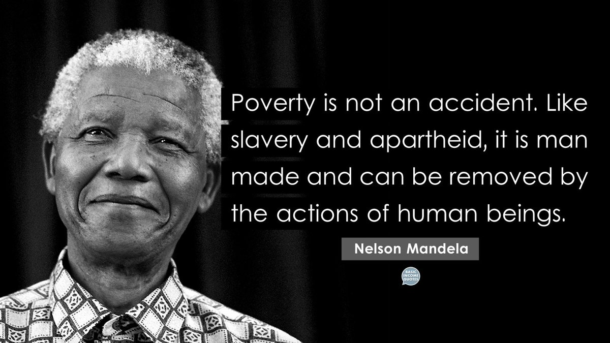 Poverty Quotes | Basic Income Quotes On Twitter Poverty Is Not An Accident Like
