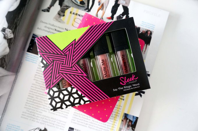 SLEEK MAKEUP SAY THE MAGIC WORD MINI MATTE ME COLLECTION GIFT SET REVIEW + GIVEAWAY