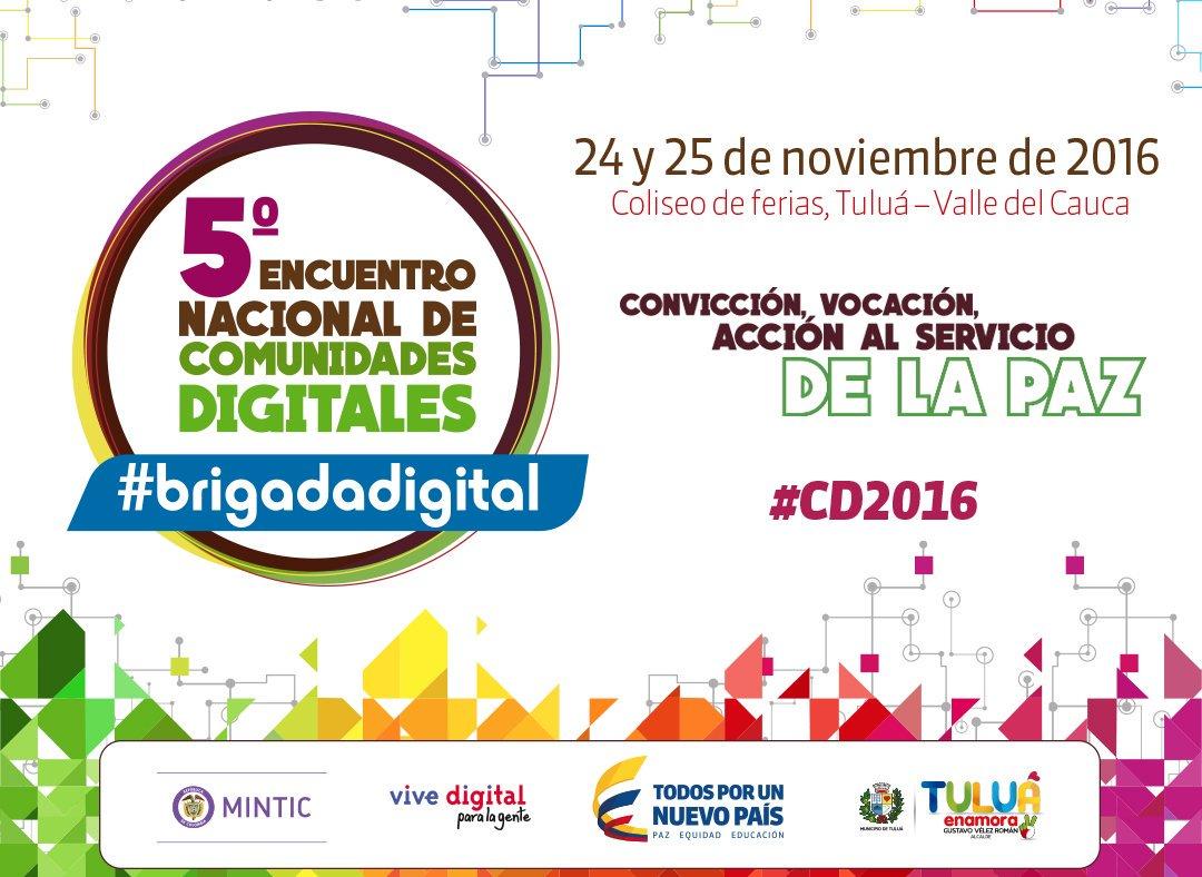 Hoy empieza el encuentros más admirables del país. Siga la pista de #CD2016 y #BrigadaDigital y conozca los líderes sociales de Colombia. https://t.co/JA9V9AEMoZ