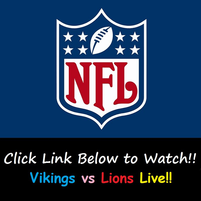 watch vikings vs lions live online free