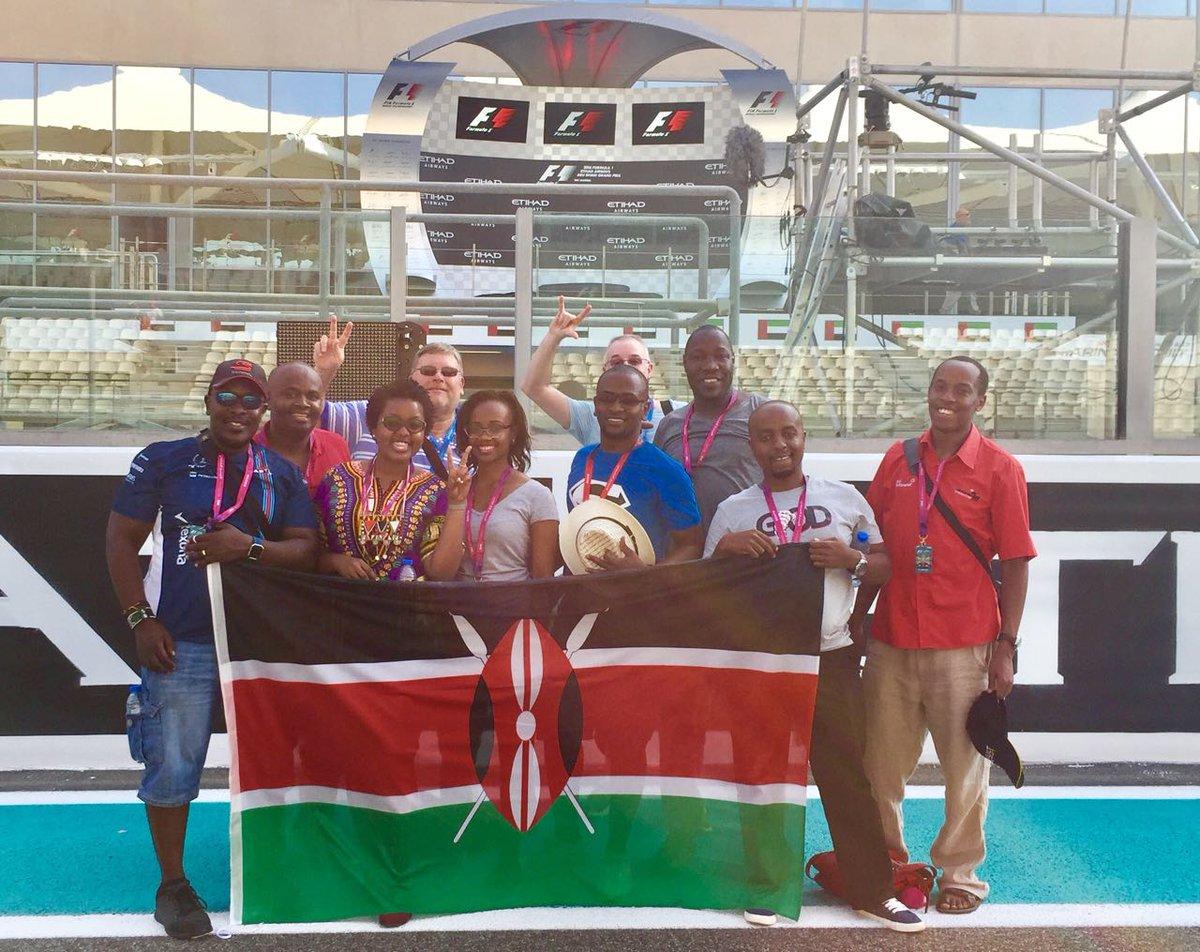Team Kenya with our fans @garybrown62 @AmJose_ #AbuDhabiGP #FormulaOne https://t.co/oQpVSaGU2u