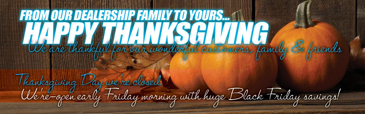 Happy thanksgiving from our #BillFickFord family to yours.