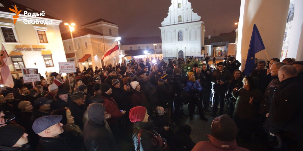 Big rally this evening in Minsk, Belarus