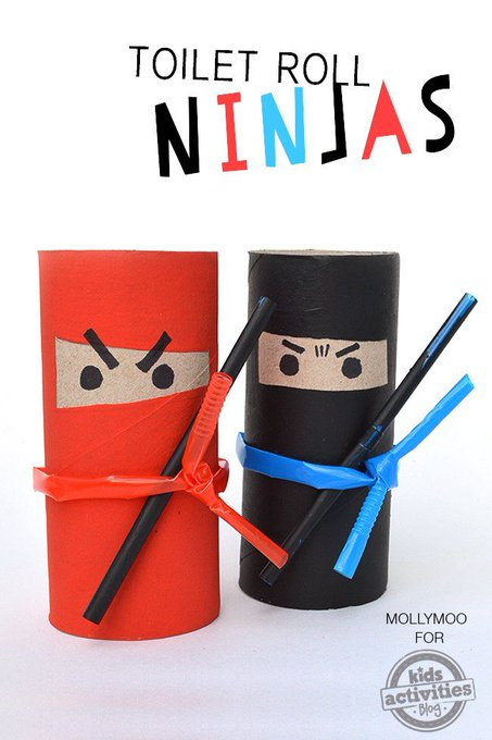 How to Make Toilet Roll Ninjas