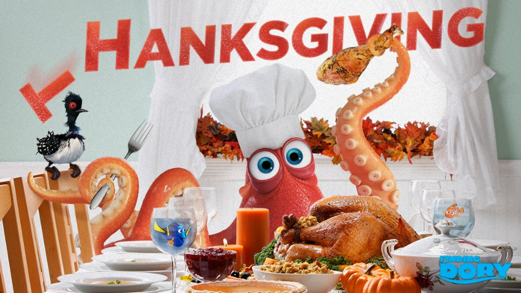 """Happy Thanksgiving! What are you """"Hankful"""" for? #FindingDory https://t.co/chJPWCGxXE"""