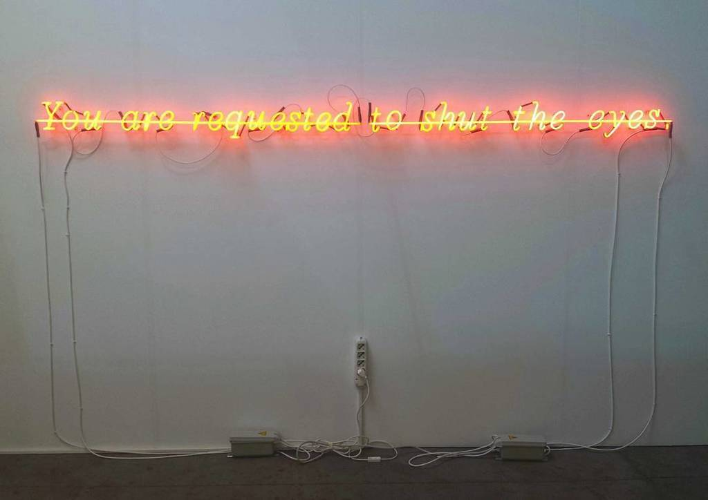 #josephkosuth #youarerequestedtoshuttheeyes #neon #neonlight #vistamaregallery #artissima … https://t.co/IGvNgSyv5W