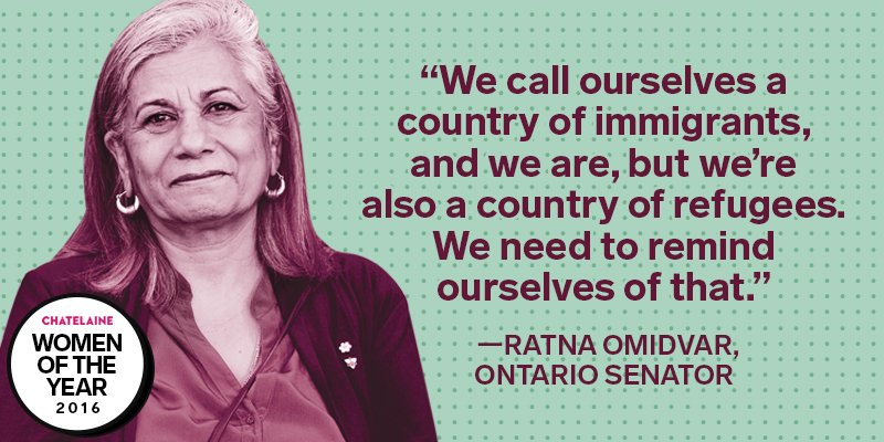 "On diversity in Cda ""[@ratnaomi] was that voice before it was popular. She's still that voice now that it is."" http://www.chatelaine.com/living/women-of-the-year-2016/image/6/ … #WOTY"