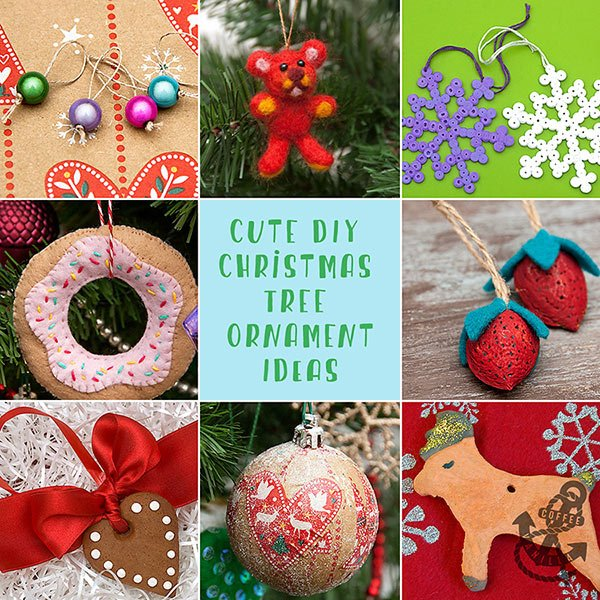 Cute DIY Christmas Tree Ornament Ideas » Coffee & Vanilla