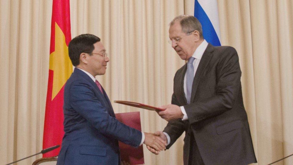 Thumbnail for Lavrov - Pham Binh Minh meeting in Moscow| Встреча С.Лаврова и главы МИД Вьетнама