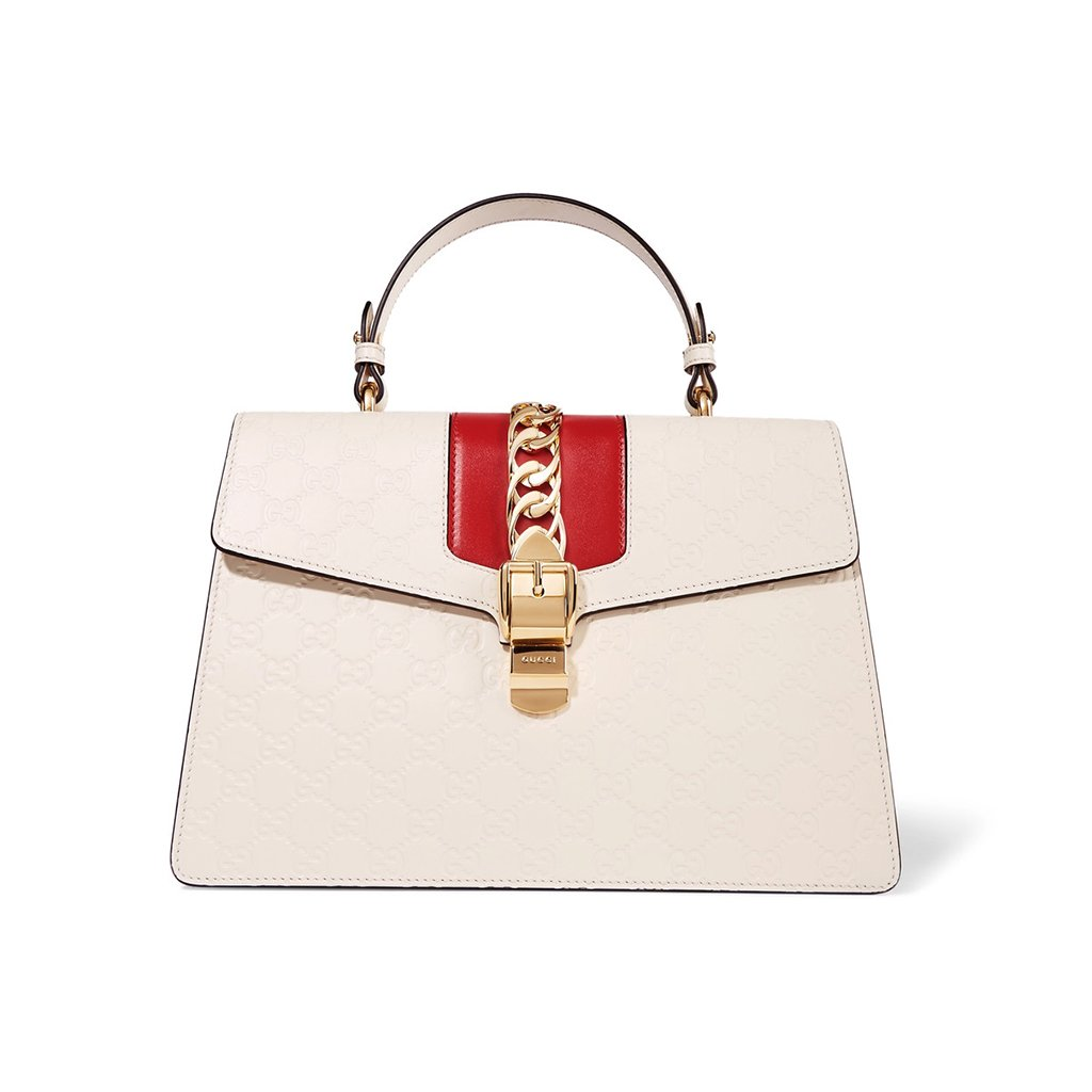f11994a842be embrace this fall s much coveted top handle style with gucci s sleek sylvie  bag