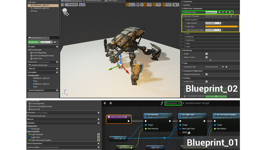 Unreal engine on twitter designing with child actor components is 1201 pm 24 nov 2016 malvernweather Image collections