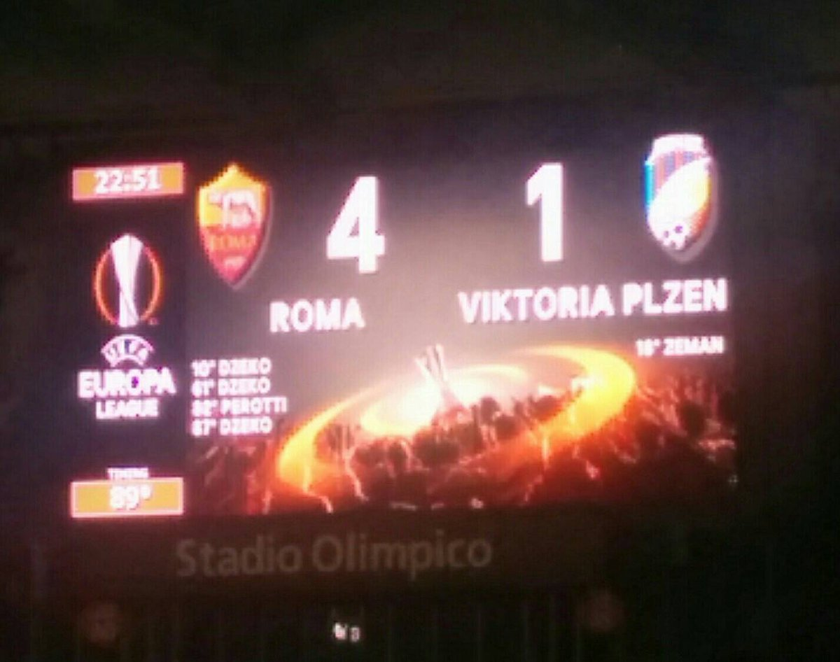 ROMA-Plzen 4-1 Video: tripleta Dzeko e rabona Perotti da cineteca