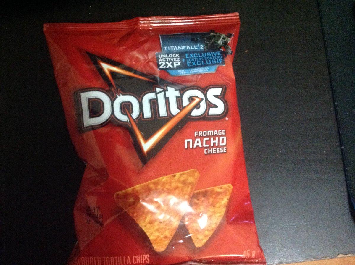 DoritosにTitanfall2の2倍XPついてたから買ってしまった https://t.co/UrD2KfZYqZ
