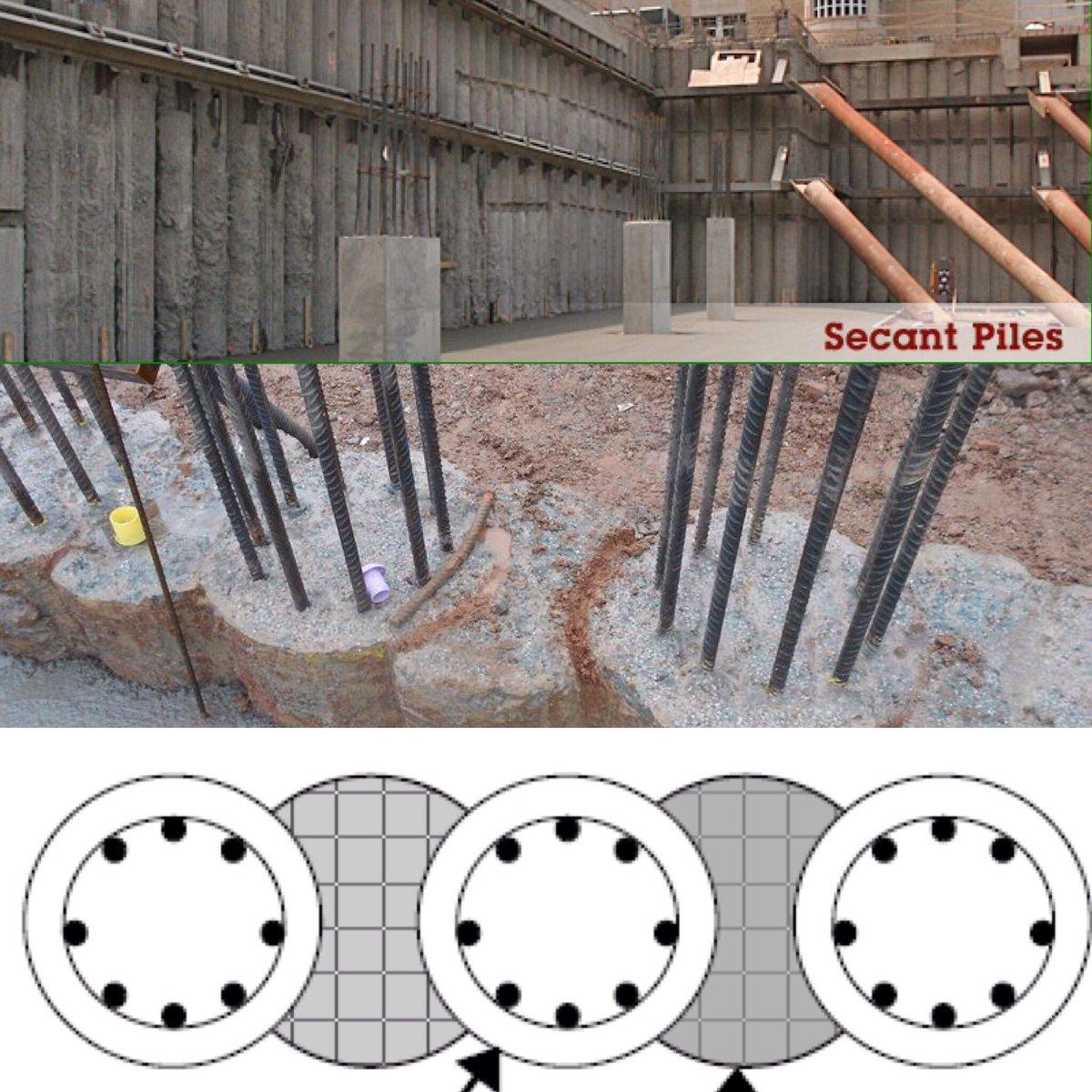 Muro mediante pilotes secantes