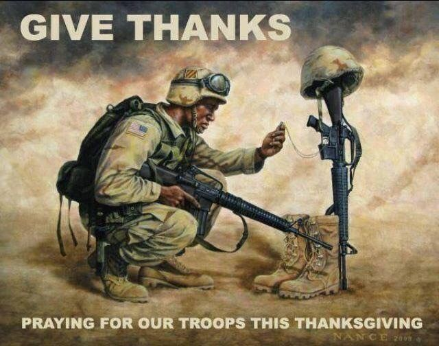 Image result for troops and thanksgiving images