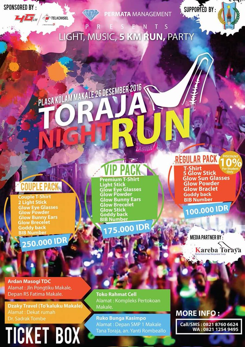 Toraja Night Run 2016