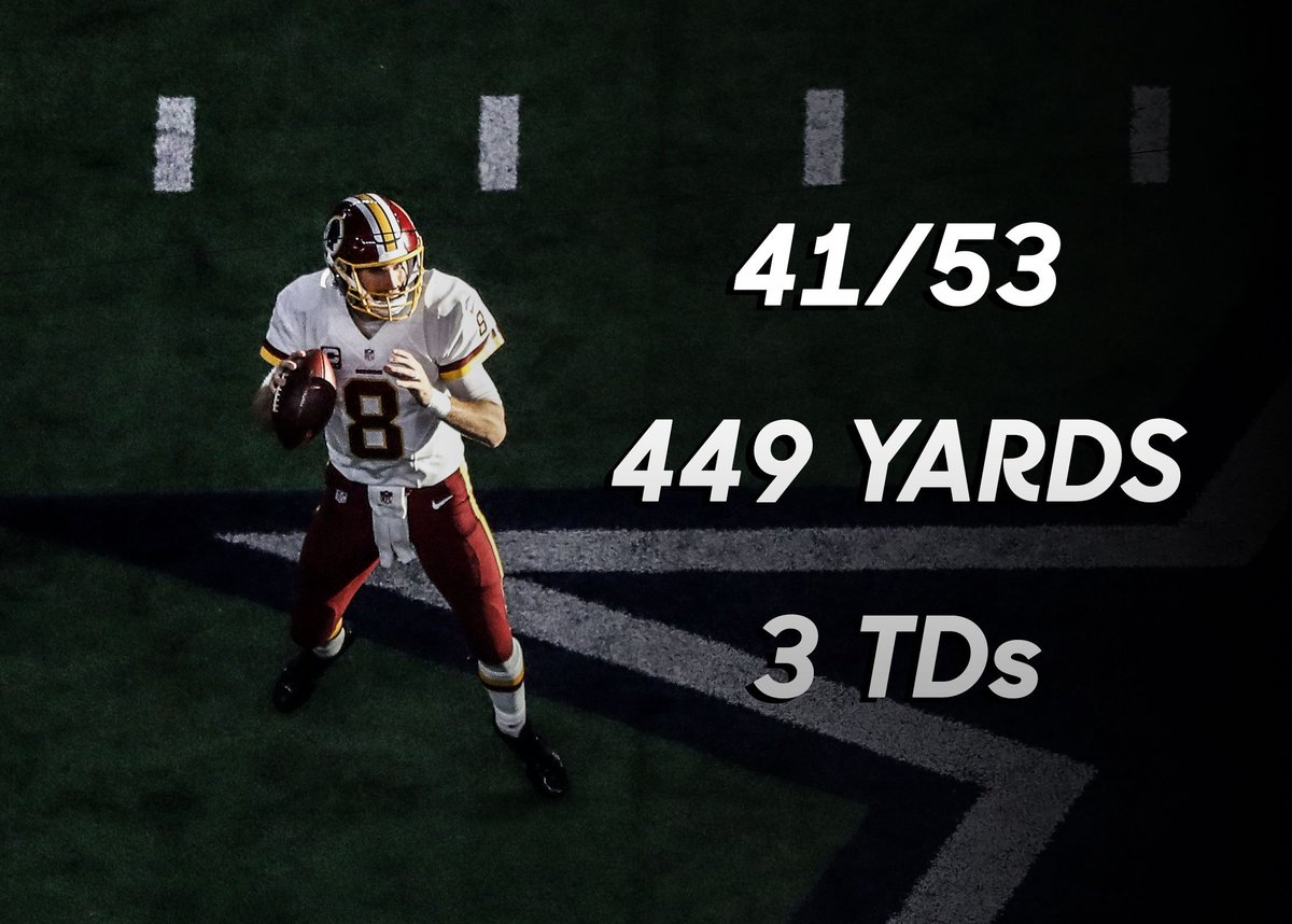 Kirk Cousins has been UNREAL today! #WASvsDAL