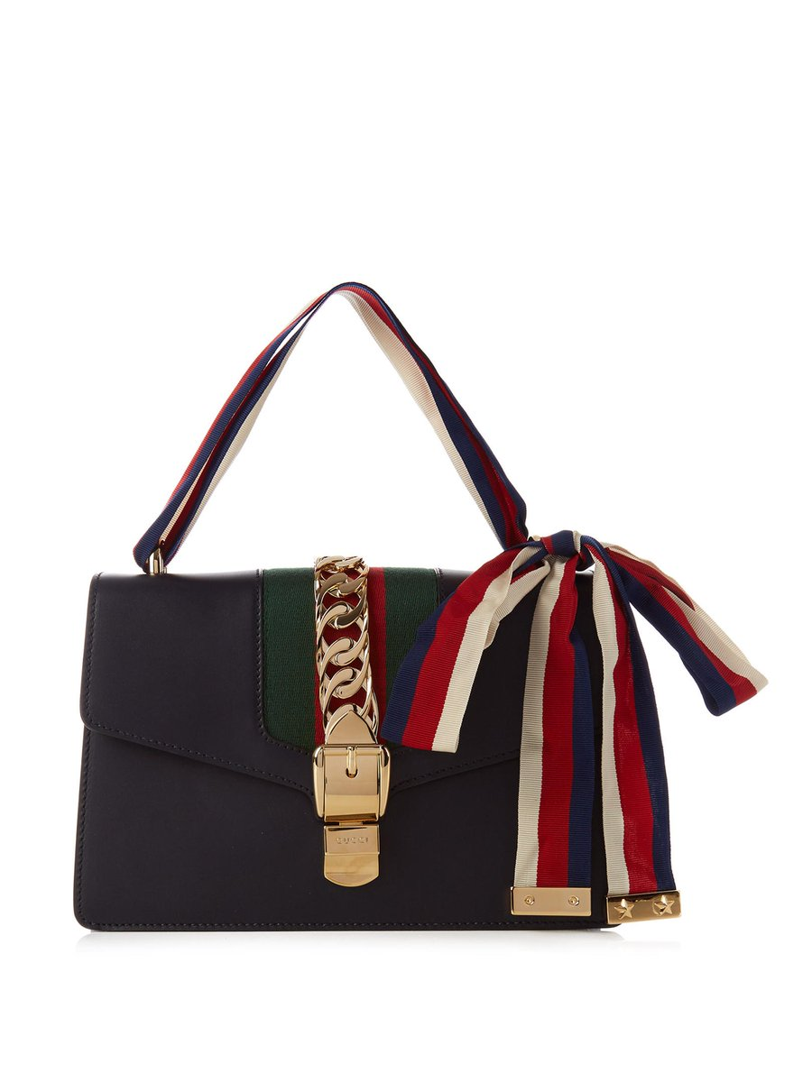 f7289cf72110 gucci s old and new house codes come together in the label s sylvie bag .