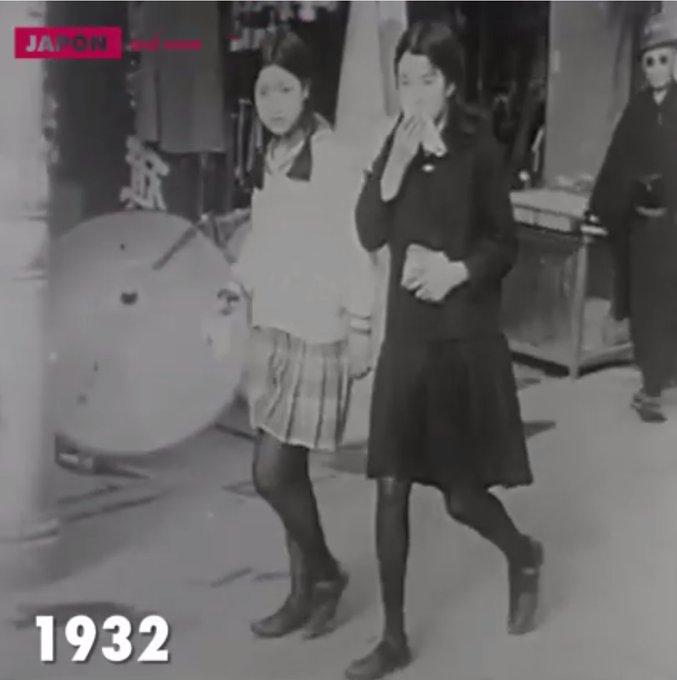 1932年の女子高生が今と寸分も違...
